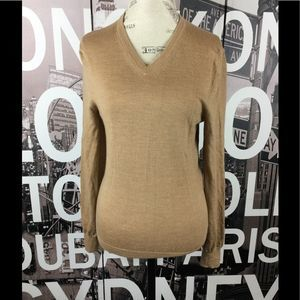 Express tan v neck sweater